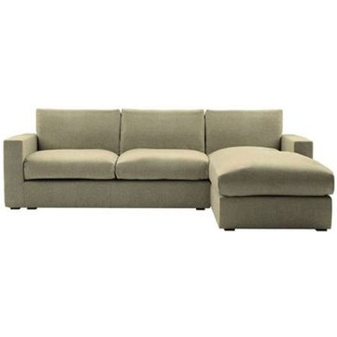 Stella Large Rhf Chaise Sofa In Flax Pure Belgian Linen
