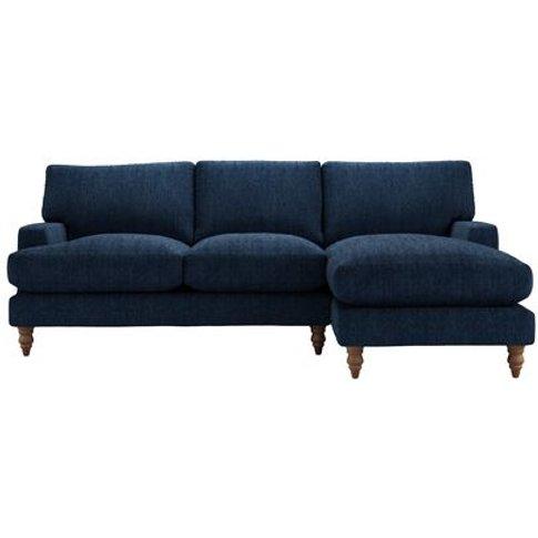 Isla Medium Rhf Chaise Sofa In Channel Blue Sandgate