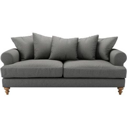 Teddy 3 Seat Sofa In Falcon Wool Marl