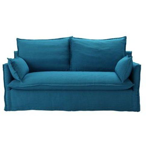 Isaac 2.5 Seat Sofa In Marina Brushed Linen Cotton