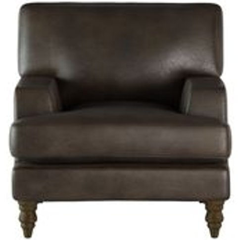 Isla Small Armchair In Espresso Bellwether Leather