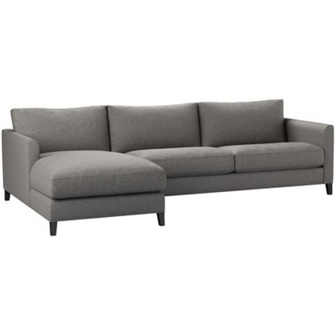 Izzy Large Lhf Chaise Sofa In Badger Dappled Viscose...