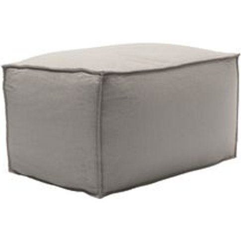 Isaac Small Rectangular Footstool In Stone Brushed L...