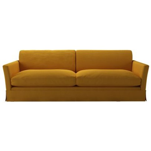 Otto 4 Seat Sofa In Mango Brushed Linen Cotton