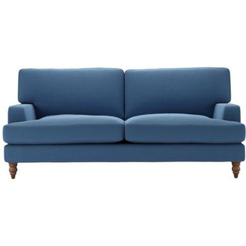 Isla 3 Seat Sofa In Heather Blue Smart Cotton