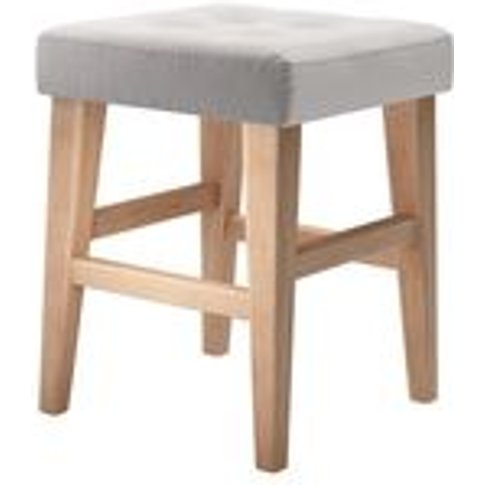 Buttons Short Stool In Dove Smart Velvet