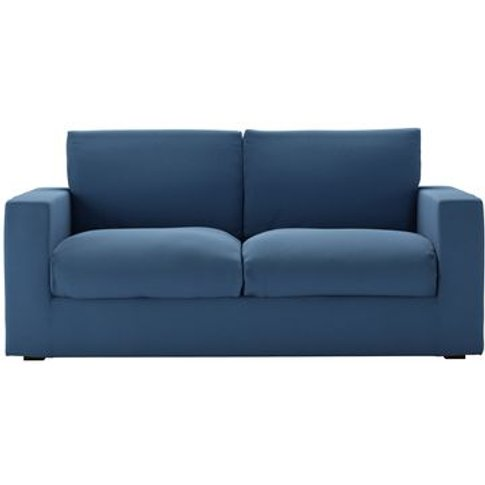 Stella 2.5 Seat Sofa In Heather Blue Smart Cotton