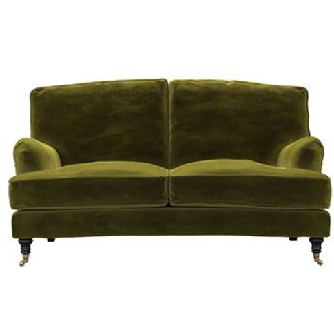 Bluebell 2 Seat Sofa In Olive Cotton Matt Velvet