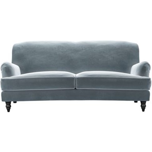 Snowdrop 3 Seat Sofa In Windermere Cotton Matt Velvet