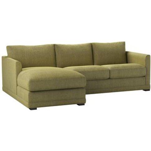 Aissa Small Lhf Chaise Storage Sofa In Chartreuse Ch...