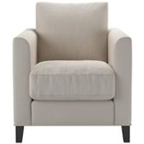 Izzy Armchair In Taupe Brushed Linen Cotton
