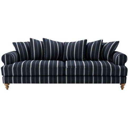 Teddy 4 Seat Sofa In Anchor Zoe Glencross Slade Stripe