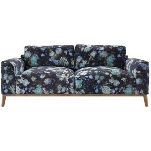 Freddie 3 Seat Sofa In Periwinkle Chelsea Bloom
