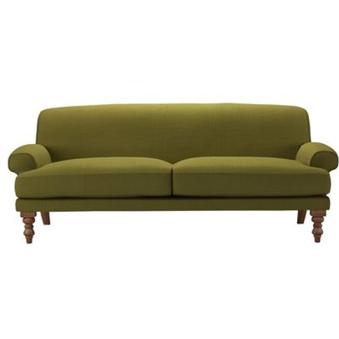 Saturday 3 Seat Sofa In Royal Fern Brushed Linen Cotton