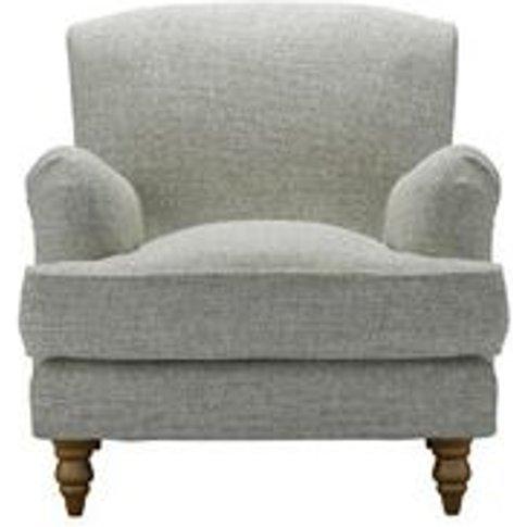 Snowdrop Armchair In Grey Marl Highland Tweed
