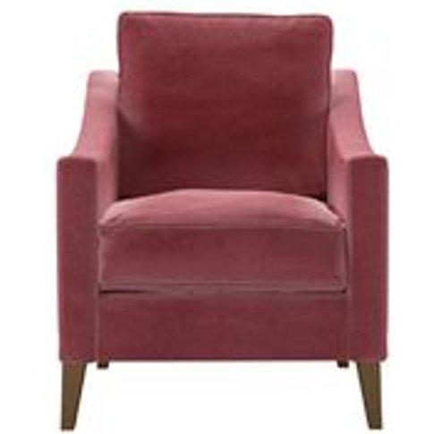 Iggy Armchair In Dusty Rose Cotton Matt Velvet