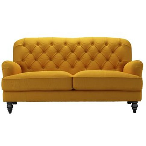 Snowdrop Button Back 2.5 Seat Sofa In Mango Brushed ...