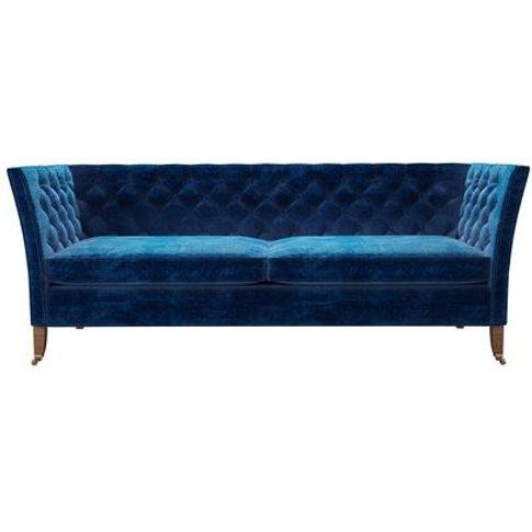 Descartes 3 Seat Sofa In Navy Filigree