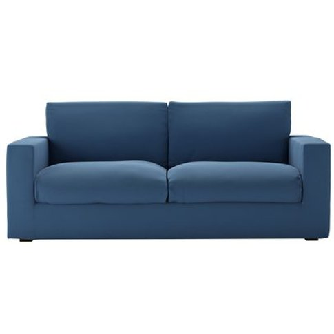 Stella 3 Seat Sofabed In Heather Blue Smart Cotton