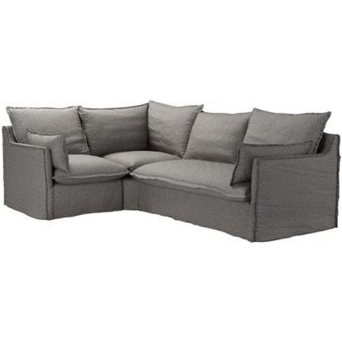 Isaac Asym: Lhf Single W Rhf 2 Seat Sofabed In Badger Dappled Viscose Wool