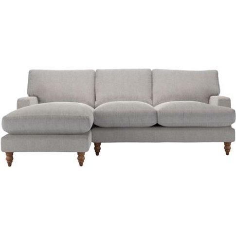 Isla Medium Lhf Chaise Sofa In Rye Baylee Viscose Linen