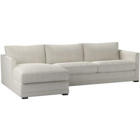 Aissa Large Lhf Chaise Sofa In Clay House Basket Weave