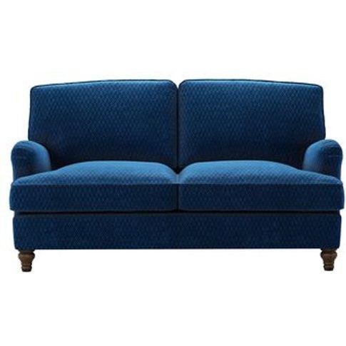 Bluebell 2 Seat Sofabed In Royal Blue Velvet Jacquard