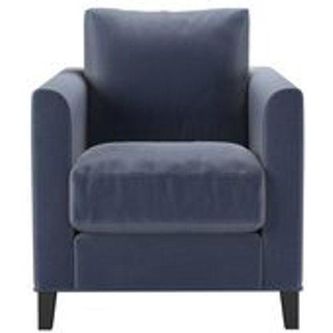 Izzy Armchair In Sapphire Smart Velvet