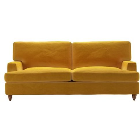 Isla 3 Seat Sofabed in Butterscotch Cotton Matt Velvet