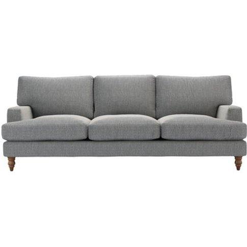 Isla 4 Seat Sofa In Iron Diamond Viscose Cotton