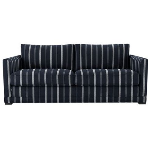 Aissa 3 Seat Sofa In Anchor Zoe Glencross Slade Stripe