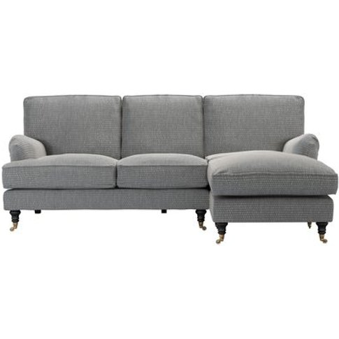 Bluebell Rhf Chaise Sofa In Iron Diamond Viscose Cotton