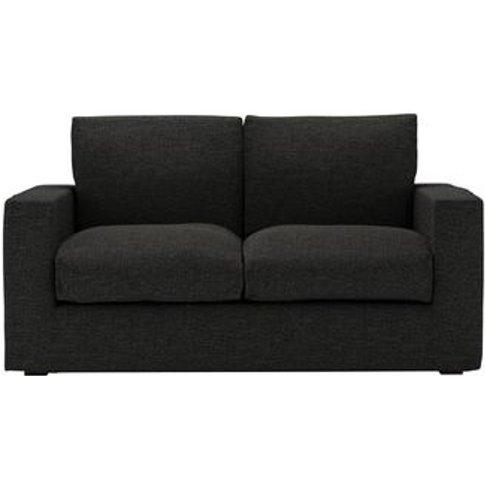 Stella 2 Seat Sofa Bed In Slate Highland Tweed