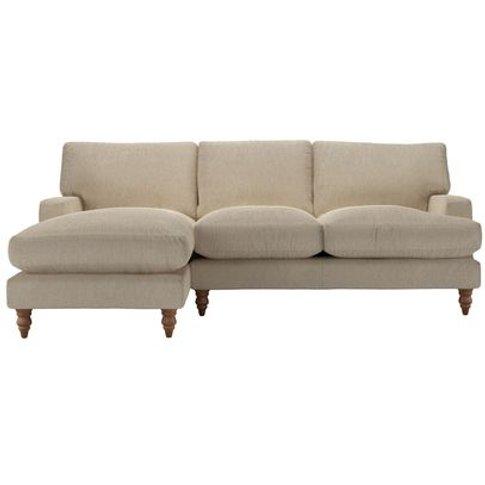 Isla Medium Lhf Chaise Sofa In Cashew Baylee Viscose...