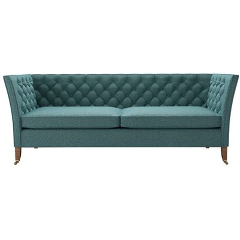Descartes 3 Seat Sofa In Crocodile Dappled Viscose Wool
