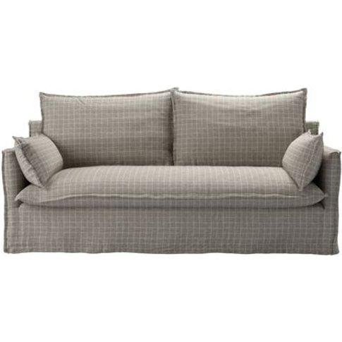 Isaac 3 Seat Sofa In Sandbank Heritage Checks