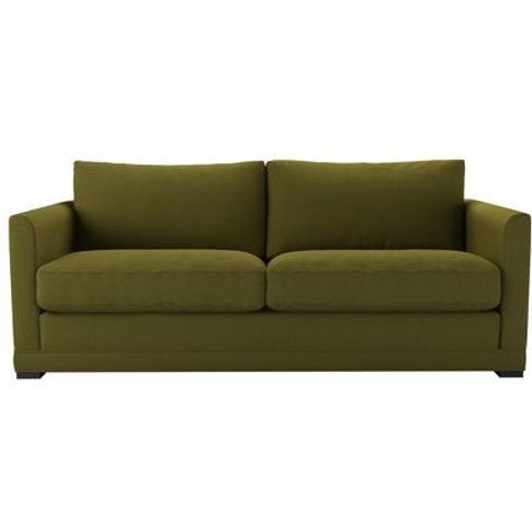 Aissa 3 Seat Sofa In Royal Fern Brushed Linen Cotton