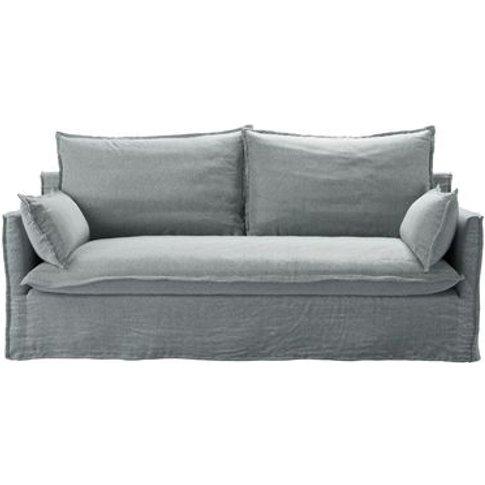 Isaac 3 Seat Sofa In Cirrus Smart Slubby Cotton