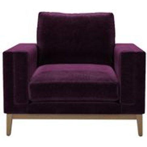 Costello (Plinth) Armchair In Plum Smart Velvet