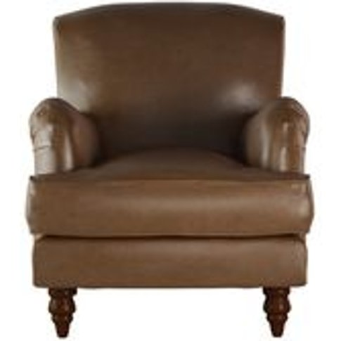 Snowdrop Small Armchair In Mocha Bellwether Leather