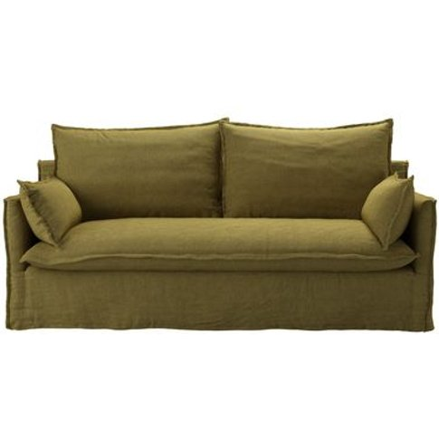 Isaac 3 Seat Sofa In Mossymere Norfolk Cotton