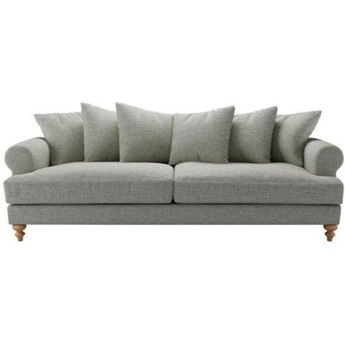 Teddy 4 Seat Sofa In Grey Marl Highland Tweed
