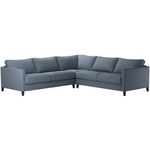 Izzy Medium Corner Sofa In Loch Brushed Linen Cotton