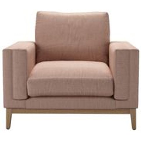Costello (Plinth) Armchair In Blush Pure Belgian Linen