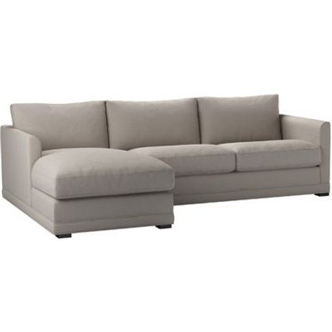 Aissa Medium Lhf Chaise Storage Sofa In Stone Brushe...