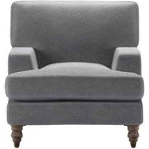 Isla Small Armchair In Thatch Smart Velvet