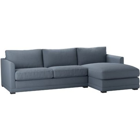 Aissa Medium Rhf Chaise Storage Sofa In Loch Brushed...