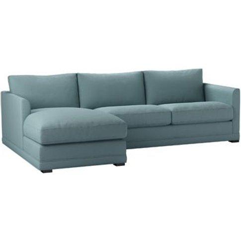 Aissa Medium Lhf Chaise Storage Sofa In Lagoon Brush...