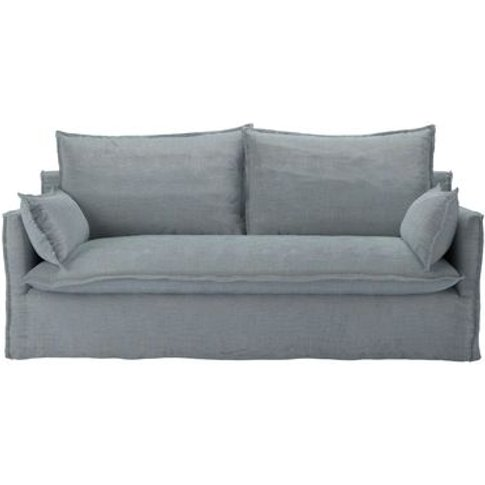 Isaac 3 Seat Sofa In Buttermere Baylee Viscose Linen