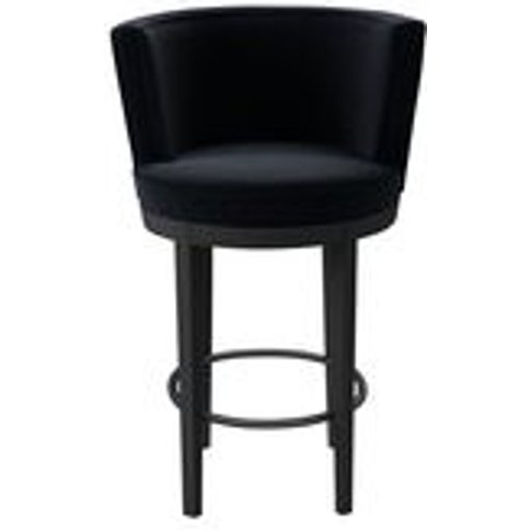 Margaux Bar Stool In Pitch Smart Cotton
